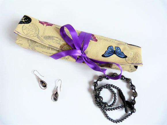 Make Up Gift set, Jewelry Roll and Make Up Wrap - Olganna