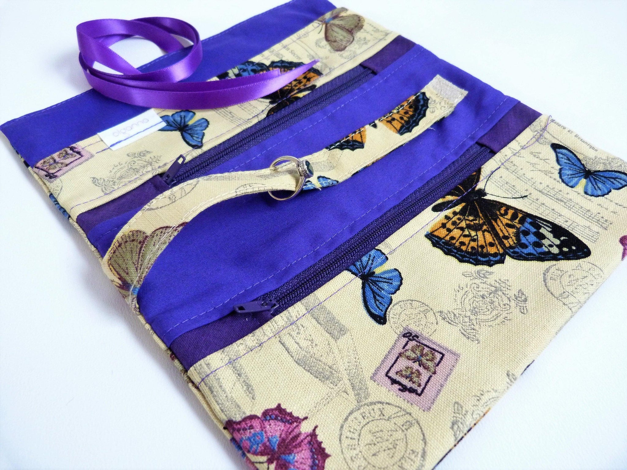 Make Up Gift set, Jewelry Roll and Make Up Wrap