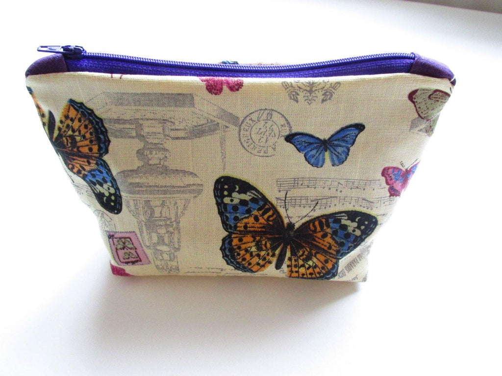Butterfly Make up Etui, Pennelli Make Up, Small Cosmetics Bag,