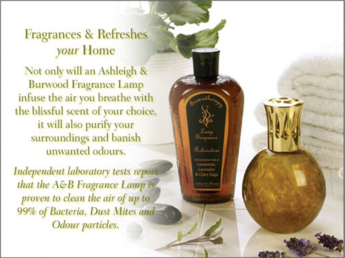 Fragrances and Refreshes Your Home - Not only will an Ashleigh and Burwood Fragrance Lamp infuse the air you breathe with the blissful scent of your choice, it will also purify your surroundings and banish unwanted odours. Independent laboratory tests report that the Ashleigh and Burwood Fragrance Lamp is proven to clean the air of up to 99% of bacteria, dust mites and odour particles.
