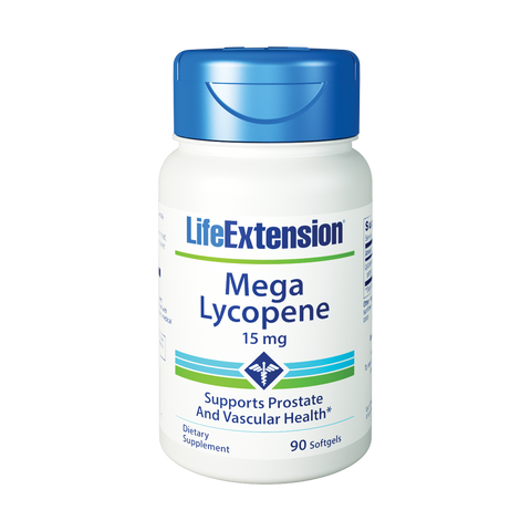 Life Extension-Mega Lycopene  15 mg, 90 softgels - Alkaline for Life