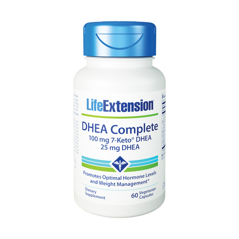 Life Extension-DHEA Complete  60 vegetarian capsules - Alkaline for Life