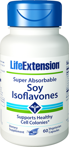Life Extension-Super-Absorbable Soy Isoflavones  60 vegetarian capsules - Alkaline for Life