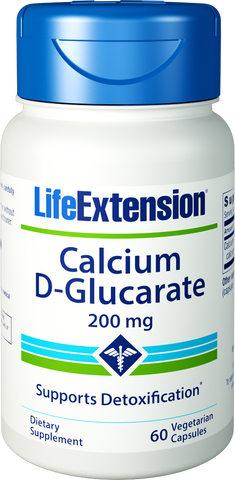 Life Extension-Calcium D-Glucarate  200 mg, 60 vegetarian capsules - Alkaline for Life
