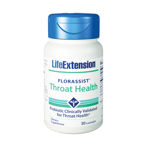 Life Extension-FLORASSIST® Throat Health  30 lozenges - Alkaline for Life