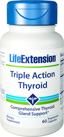 Life Extension-Triple Action Thyroid  60 vegetarian capsules - Alkaline for Life