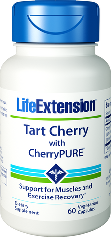 Life Extension-Tart Cherry with CherryPURE®  60 vegetarian capsules - Alkaline for Life