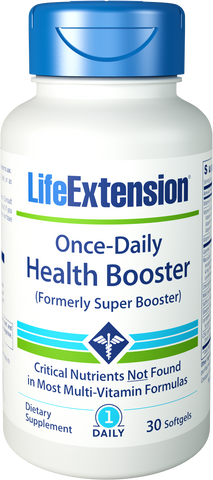 Life Extension-Once-Daily Health Booster (formerly Super Booster) 30 softgels - Alkaline for Life