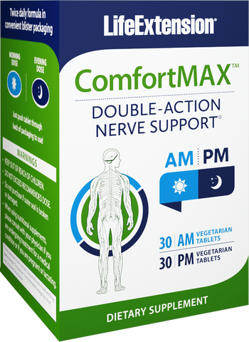 Life Extension-ComfortMAX™  30 AM vegetarian tablets, 30 PM vegetarian tablets - Alkaline for Life