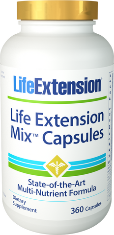 Life Extension-Life Extension Mix™ Capsules  State-of-the-art multi-nutrient formula 360 capsules - Alkaline for Life