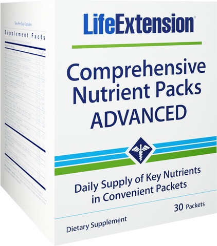 Life Extension-Comprehensive Nutrient Packs ADVANCED  30 packets - Alkaline for Life