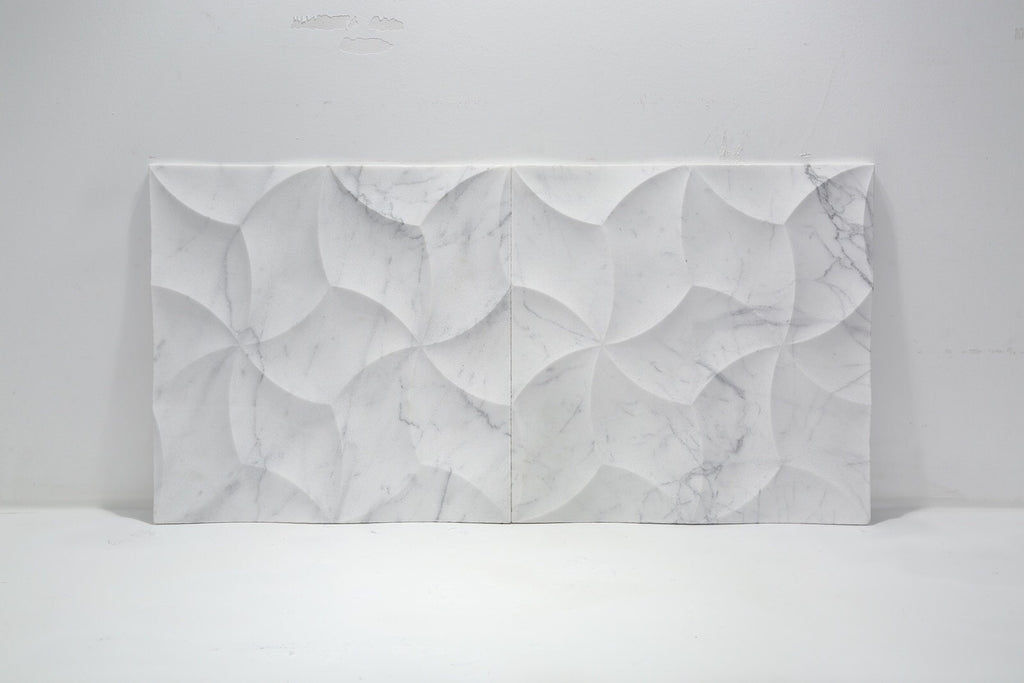 Italian Carrara (Carrera) Bianco 3D Wall Tiles