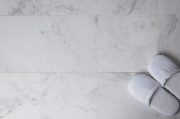 "Polished Carrara white marble 12x12"" tile 1 square foot bathroom floor tile shower wall tile DIY installation"