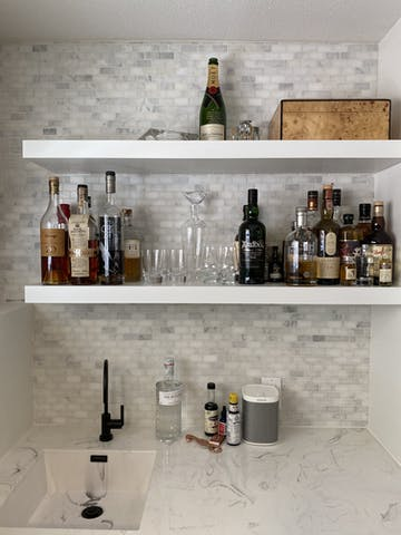 "CARRARA VENATO MARBLE MOSAIC 1X2"" MINI BRICK MOSAIC TILE WET BAR BACKSPLASH"