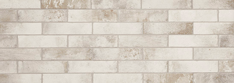 "2.5X10"" BRICK STYLE PORCELAIN SUBWAY TILE IN WEATHERED WHITE"