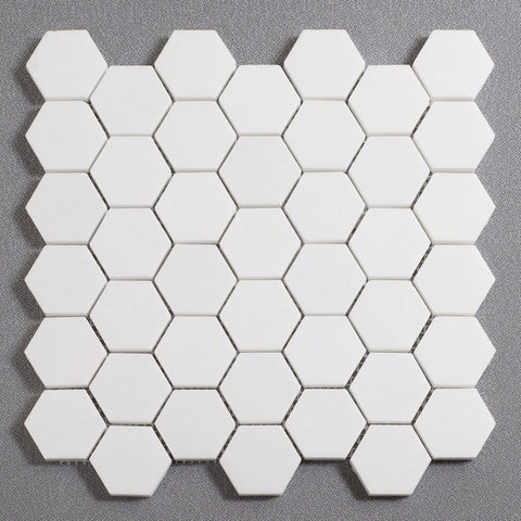 "White Thassos 2"" Hexagon Tile"
