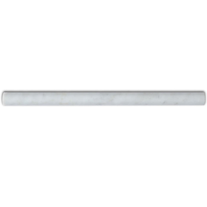 "Pencil Molding 1"" Trim Bianco Carrara Polished Marble - Tile Buys"