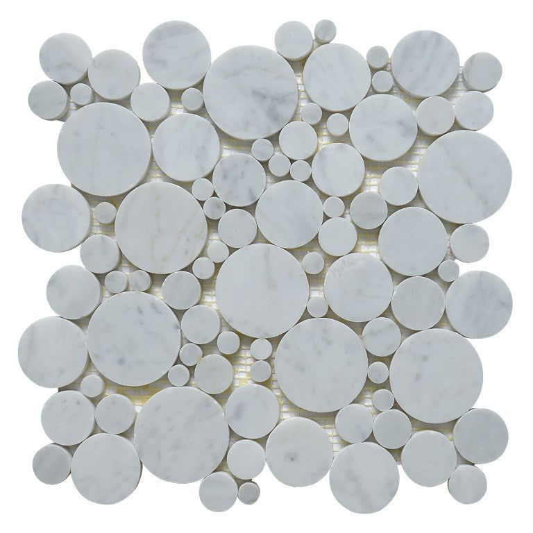 Carrara White Marble Mosaic Tile - Inspection Samples - Tile Buys