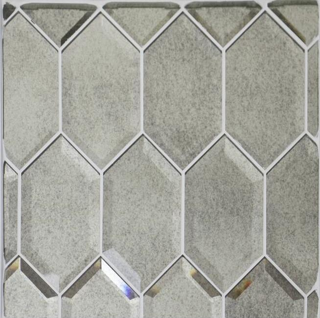 Antique Mirror Glass Beveled Elongated Hexagon Tile - TileBuys