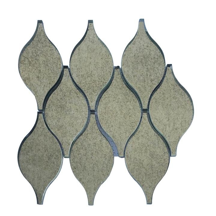Antique Mirror Glass Droplet Pattern Mosaic Tile - TileBuys
