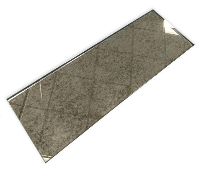 "Antique Mirror Glass in Beveled or Unbeveled 4""x12"" Subway Tile - TileBuys"
