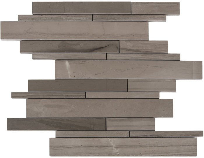 Athens Marble Mosaic Tile - Linear Strip Rectangles - Honed - TileBuys