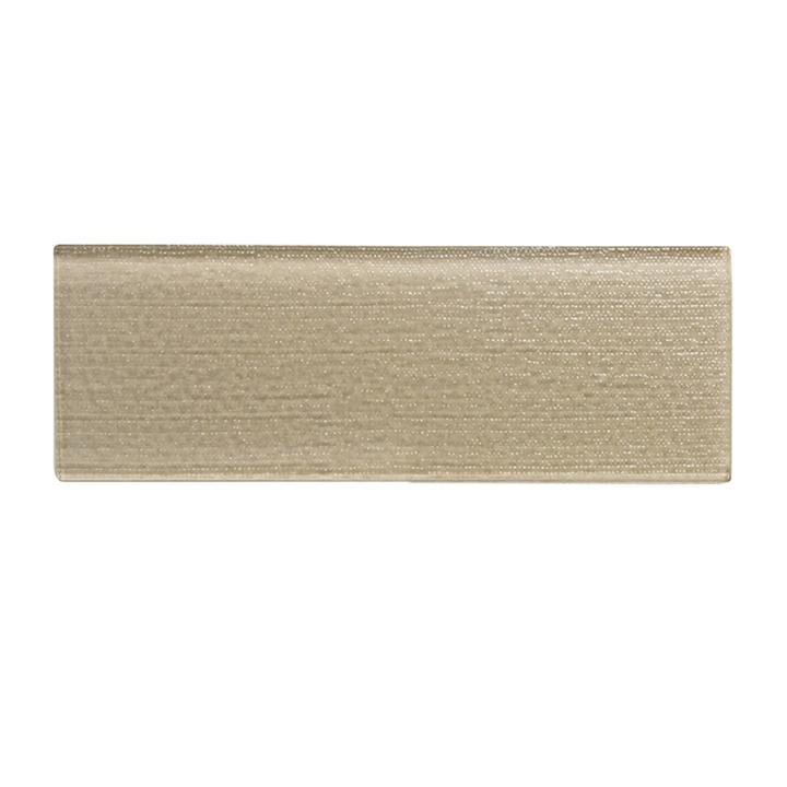"Beige Textured Glass 4""x12"" Subway Tile - TileBuys"