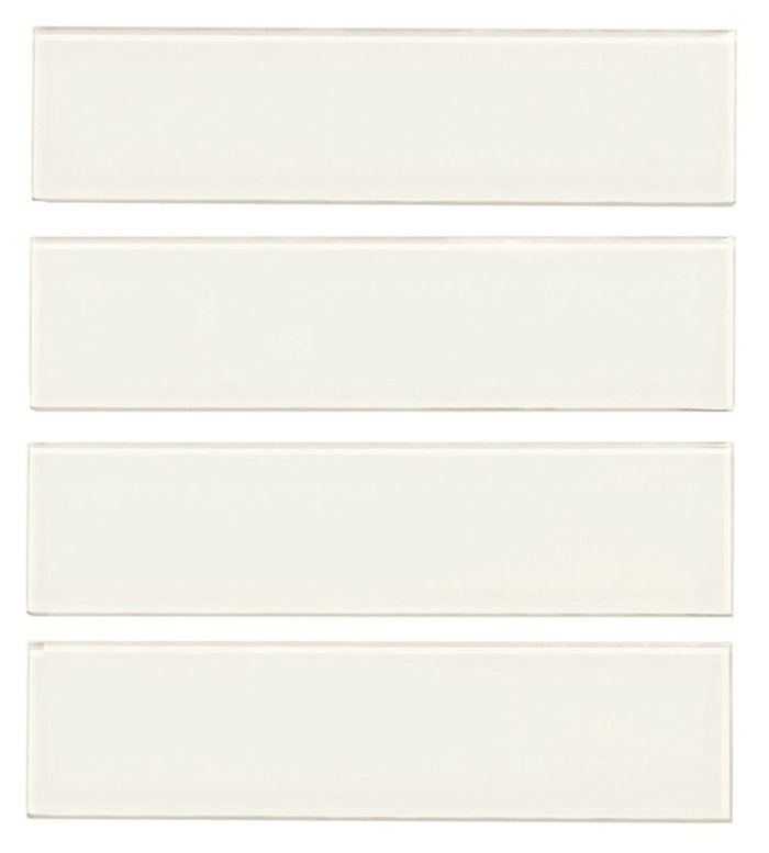"Bright White Glass 3x12"" Subway Tile - TileBuys"