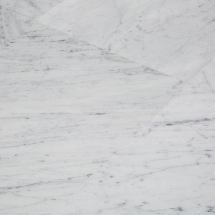 Carrara Bianco Marble Wall and Floor Field Tile in Various Sizes - Polished - TileBuys
