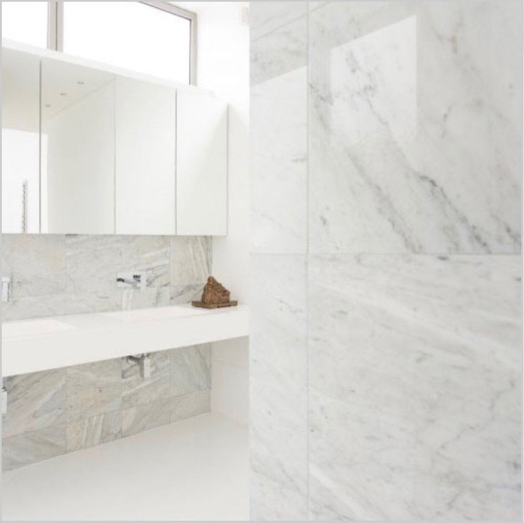 Carrara Venato Marble Wall and Floor Field Tile in Various Sizes and Finishes - TileBuys