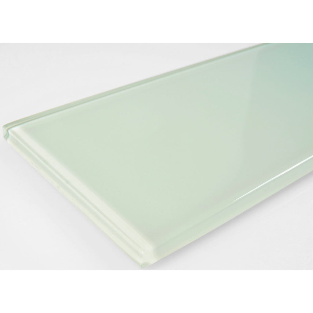 "Celery Green Glossy Glass 3x12"" Subway Tile - TileBuys"