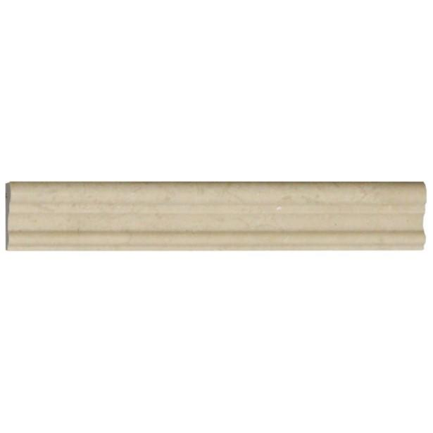 Crema Marfil Marble Trim Molding in Various Sizes - Polished - TileBuys