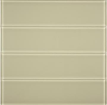 "Dark Beige Glass 3x12"" Subway Tile - TileBuys"