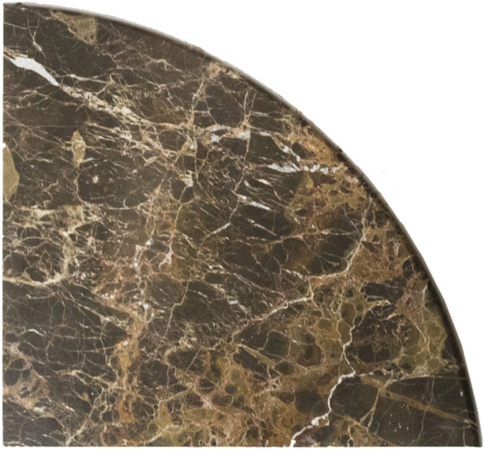 "Dark Emperador Marble Shelf - 9"" Corner Shower Shelf - Polished - TileBuys"