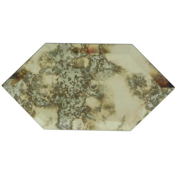 Distressed Antique Mirror Glass Elongated Hexagon Tile - TileBuys