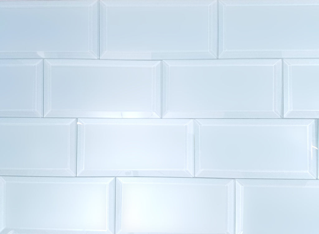 "Frosted Glass 3x6"" Beveled Field Tile in Sky Blue - Matte Finish - TileBuys"