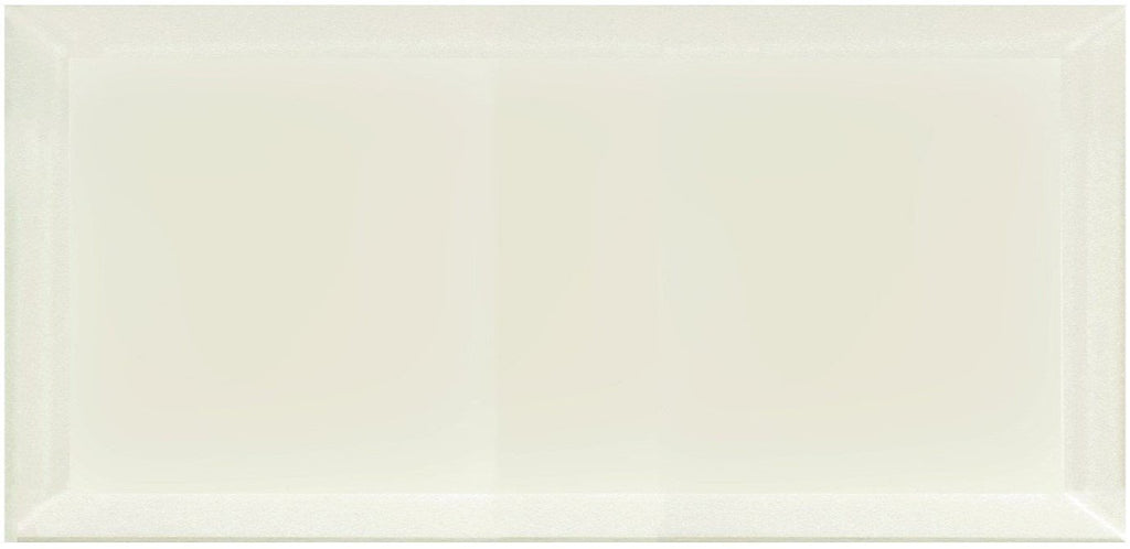 "Frosted Glass 8x16"" Beveled Field Tile in Light Beige - Glossy or Matte Finish - TileBuys"
