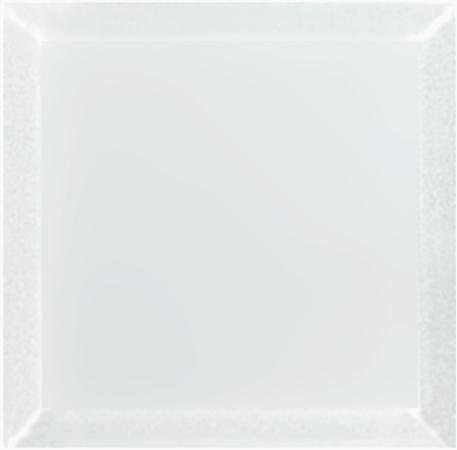 "Frosted Glass 8x8"" Beveled Field Tile in Grey - Glossy or Matte Finish - TileBuys"