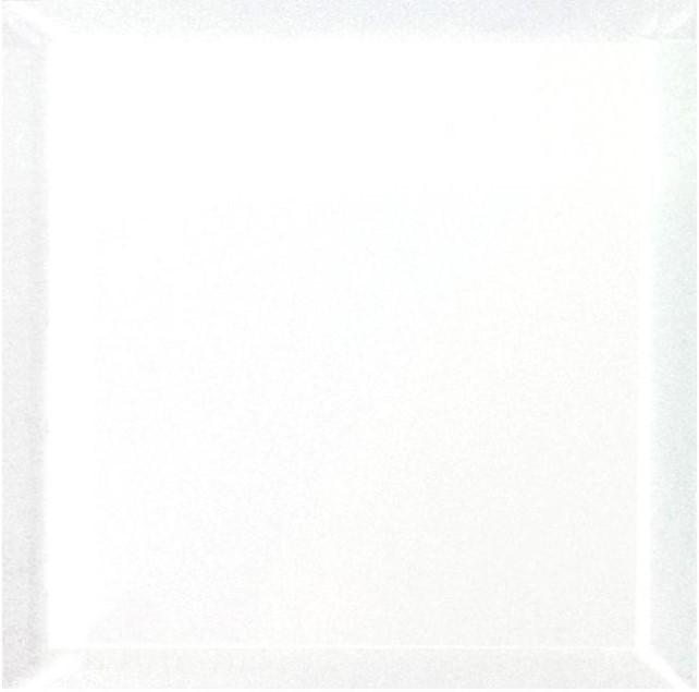 "Frosted Glass 8x8"" Beveled Field Tile in White - Glossy or Matte Finish - TileBuys"