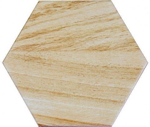 "Matte Beige Ceramic 8""x8"" Hexagon Tile in Artisan Fresh Pine - TileBuys"