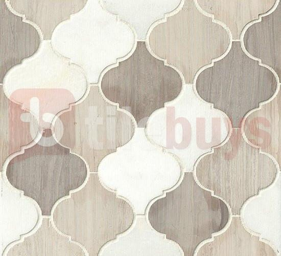 "Mixed Marble Mosaic Tile - 4"" Arabesque Lanterns in Luxembourg - TileBuys"