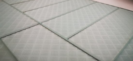 "Slip Resistant Glass 4x12"" Subway Tile in Pale Green - TileBuys"
