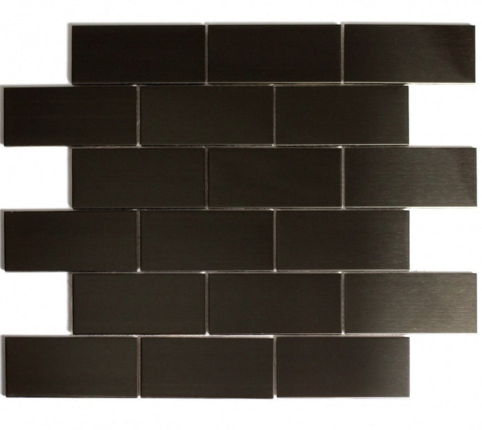 Smooth Bronze Stainless Steel Subway Tile Backsplash - TileBuys