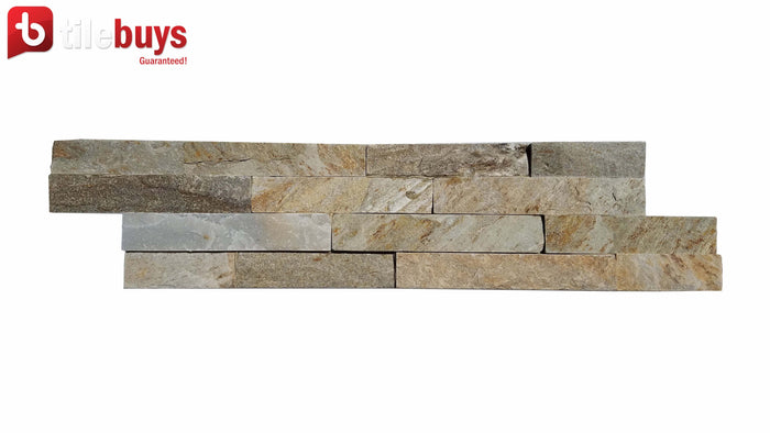 Split Face Gray Slate Ledger Stone Wall Tile - TileBuys