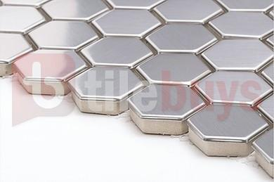 Stainless Steel Hexagon Mosaic - TileBuys