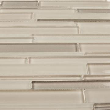 Taupe Artisan Glass Simple Strip Mosaic Tile in Texas - TileBuys