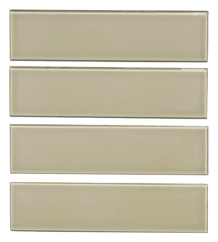 "Taupe Glass 3x12"" Subway Tile - TileBuys"