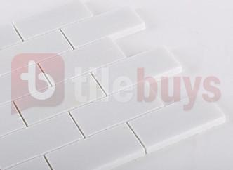 White Onyx Natural Stone 2x4 Brick Mosaic Tile Backsplash - TileBuys