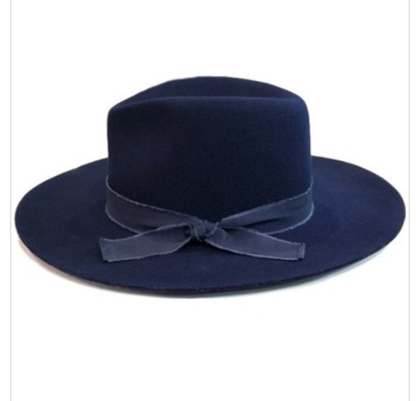 Wide brim fedora..Navy