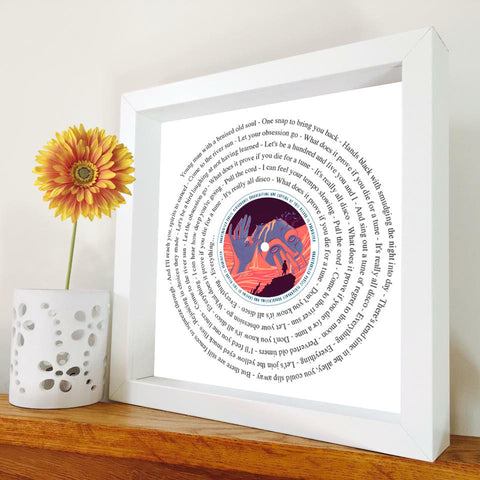 Blink 182 - I Miss You framed or unframed song lyric print ...